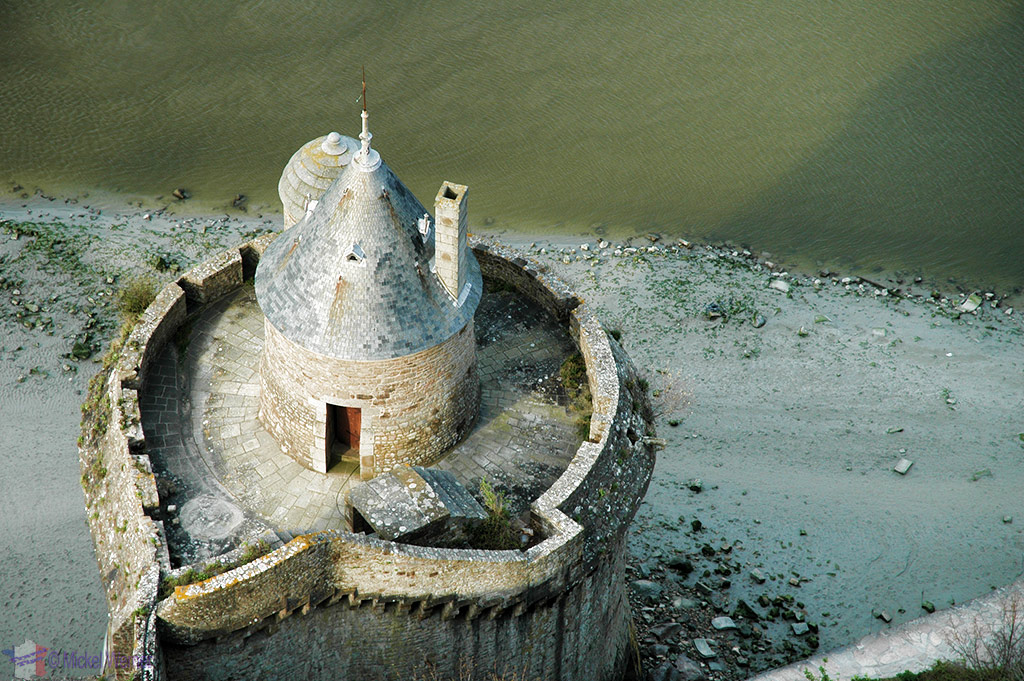 Fortified Tower of Mont St. Michel seen from above