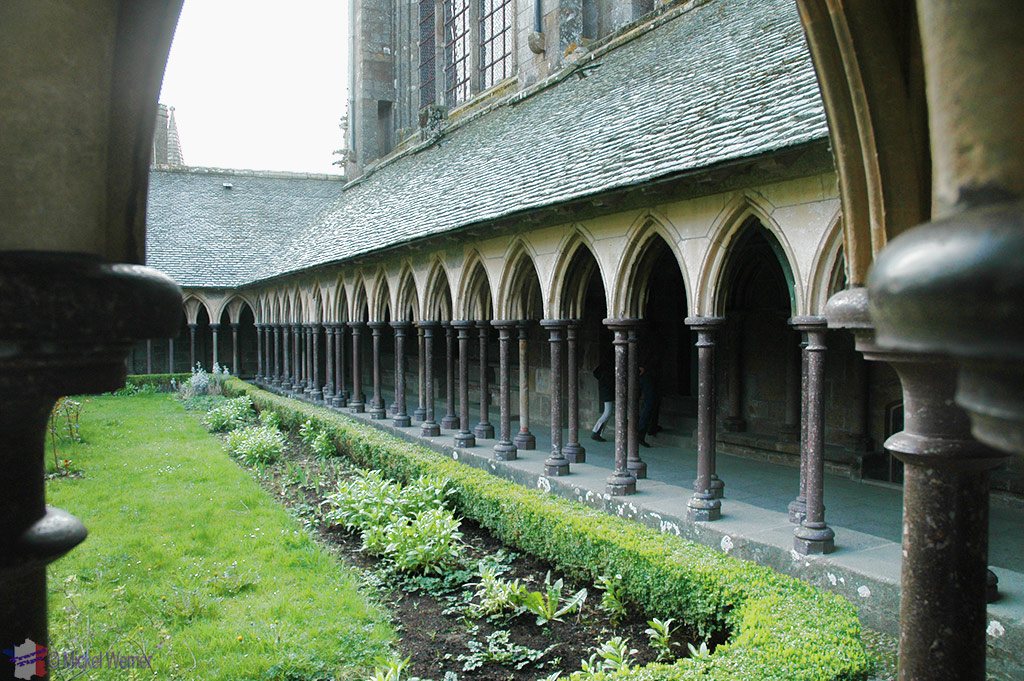 Passages to the monastery rooms above in Mont St. Michel