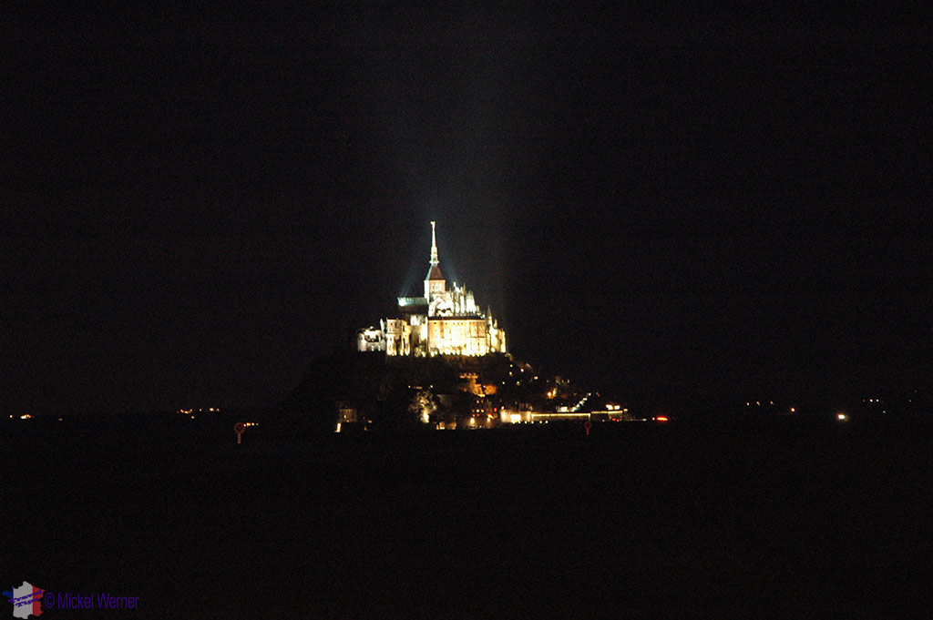 Nighttime at Month St. Michel