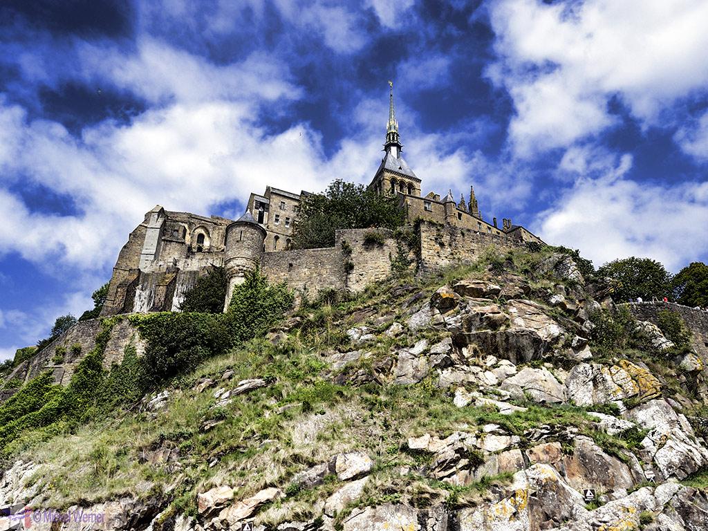 Upview of Mont St. Michel
