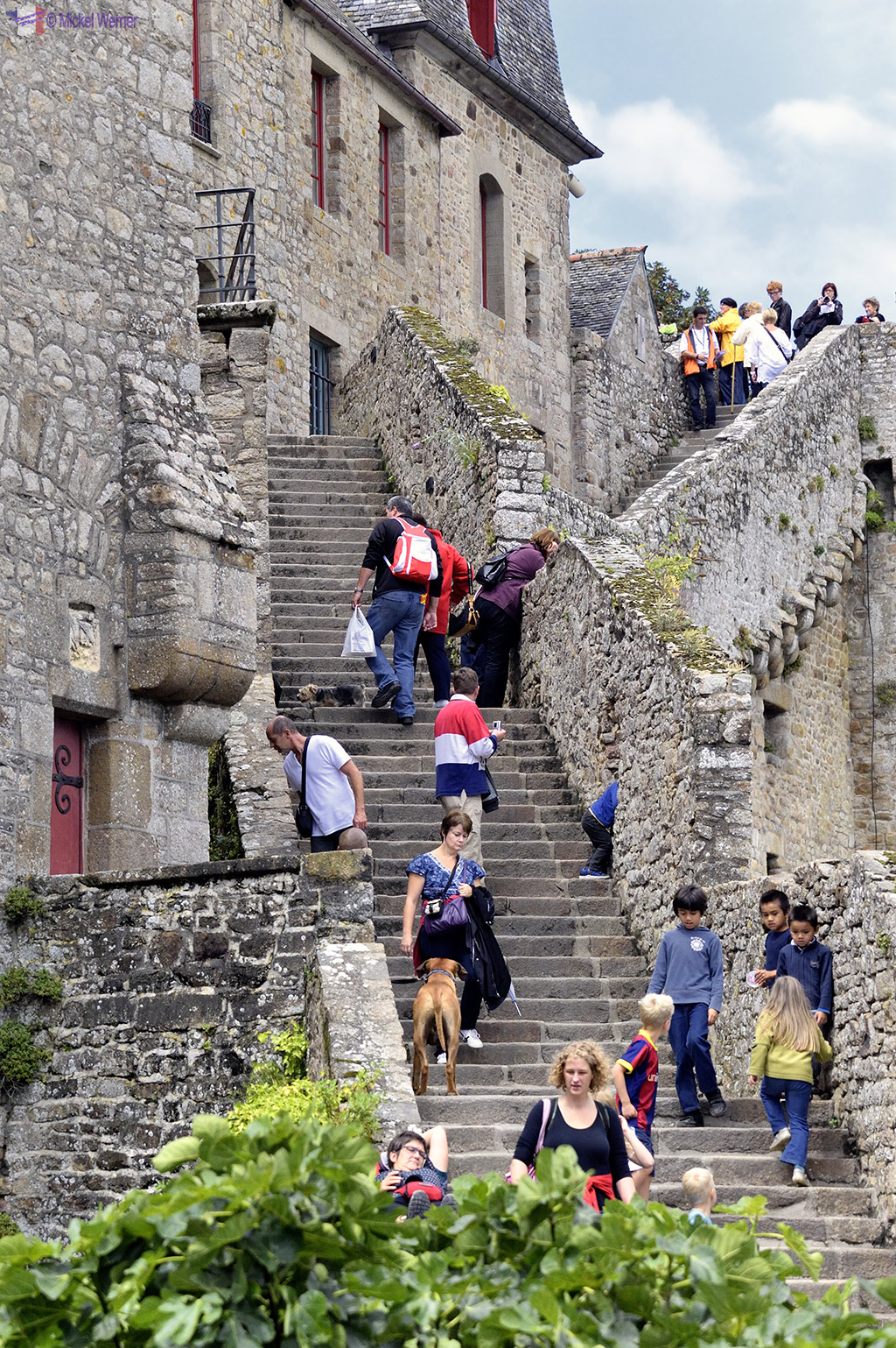 Steep stairs of Mont St. Michel