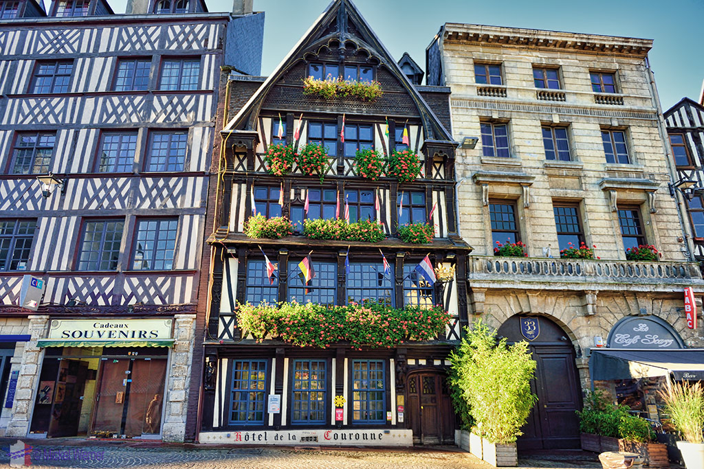 La Couronne restaurant (and hotel), France's oldest inn.