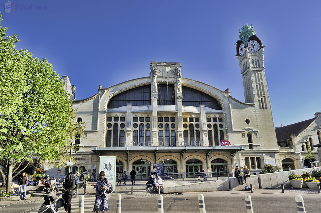 The SNCF railway station of Rouen