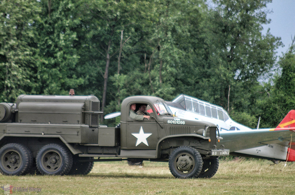 La Ferte Alais aeronautical show, a WWII support truck getting ready for some of the airplanes