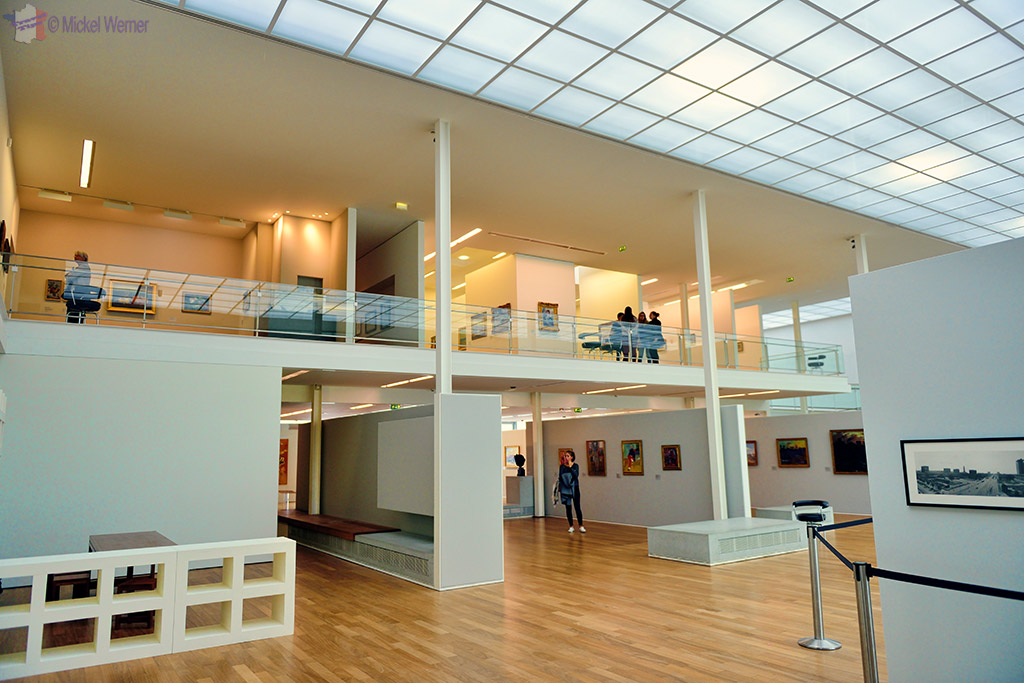 Ground floor exhibit of the Andre Malraux museum at Le Havre