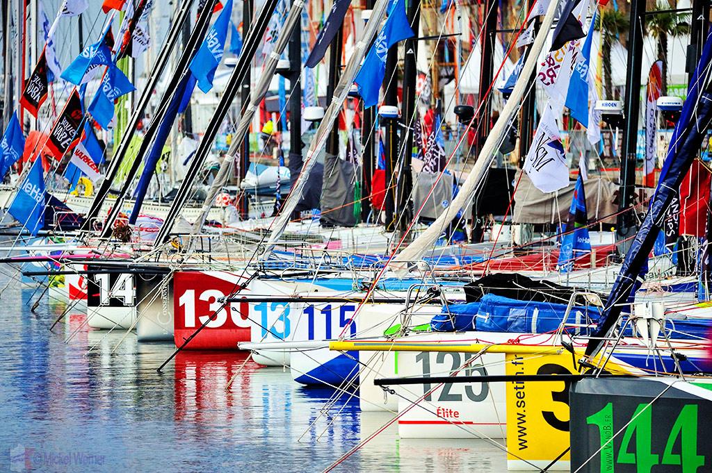 Transat Jacques Vabre sailboat race starting in Le Havre