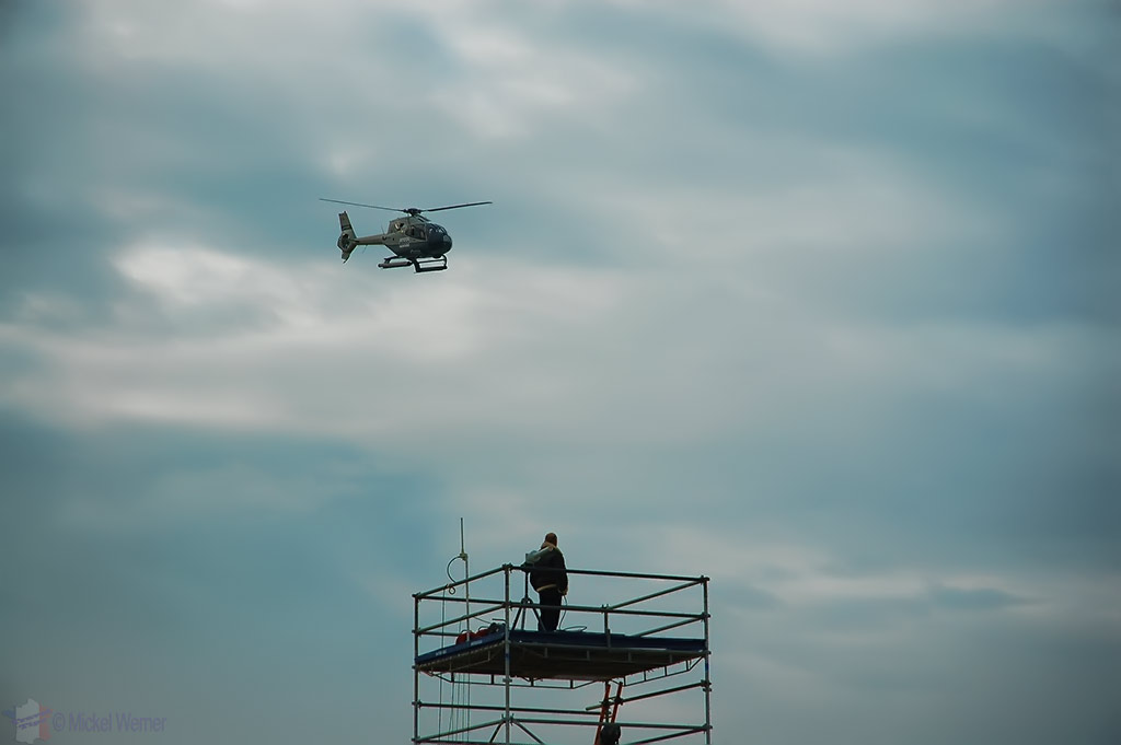 The first TV helicopter at Le Touquet Enduropale