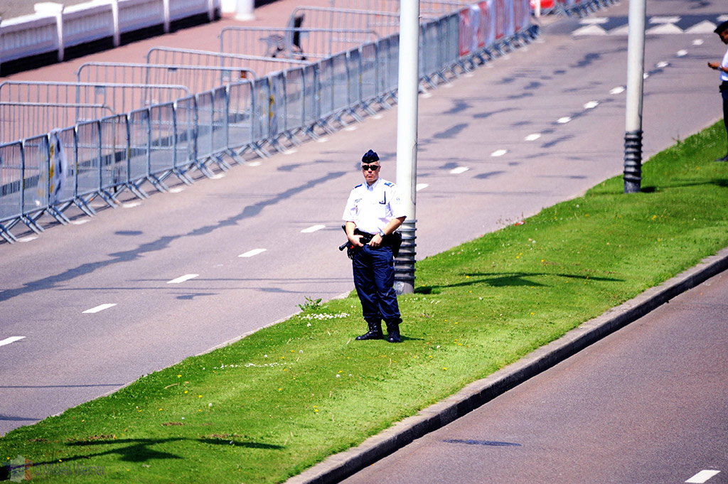 Police security at the Tour de France