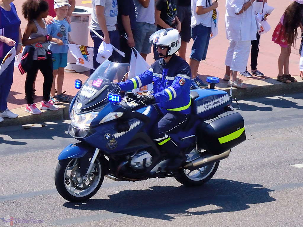 First Gendarme motorcycle police at the Tour de France