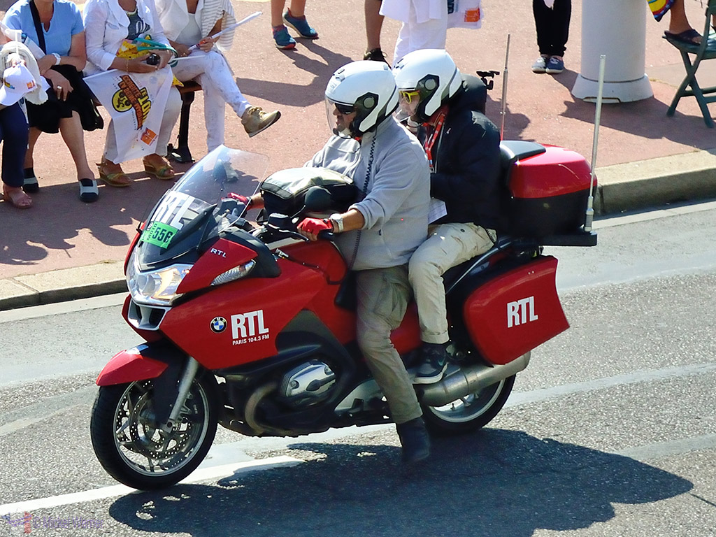 RTL Live broadcast from the motorcycle at the Tour de France