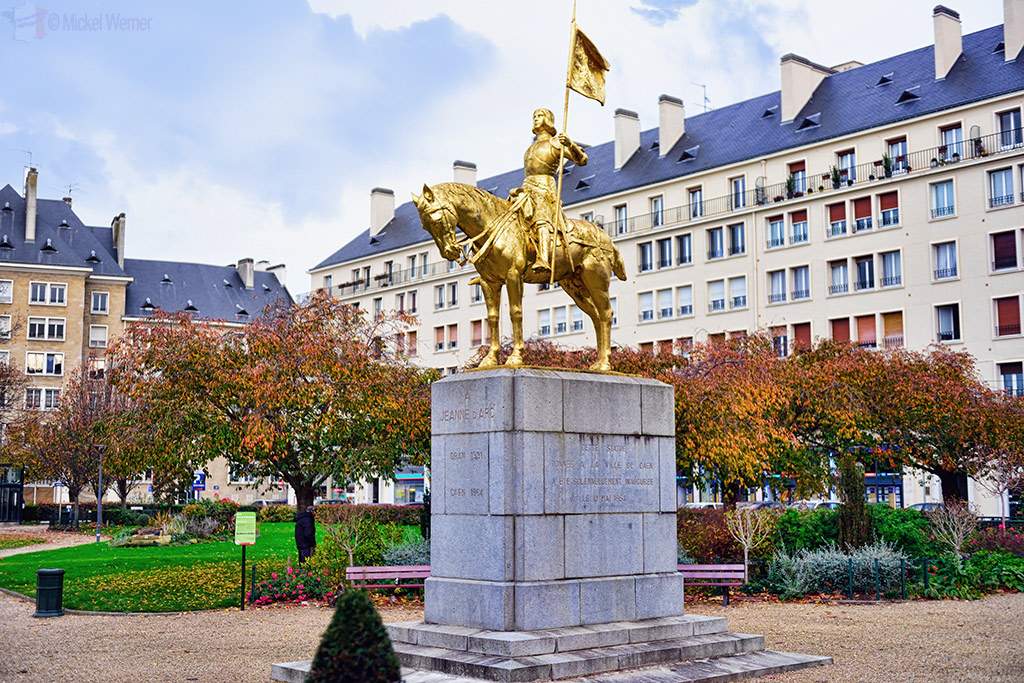 Joan of Arc statue in Caen