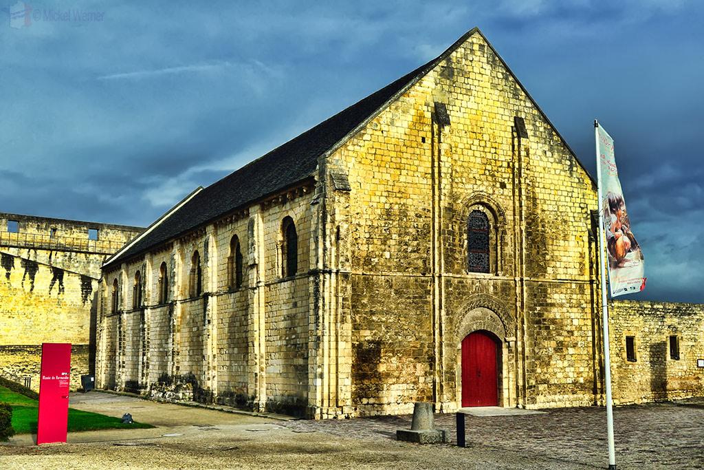 """""""Vieux Palais et la Salle de l'Echiquier"""" of the Caen castle"""