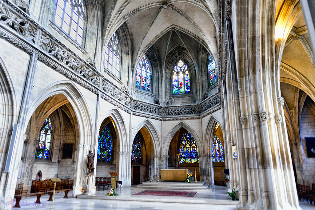 Inside the Saint-Saveur Church of Caen