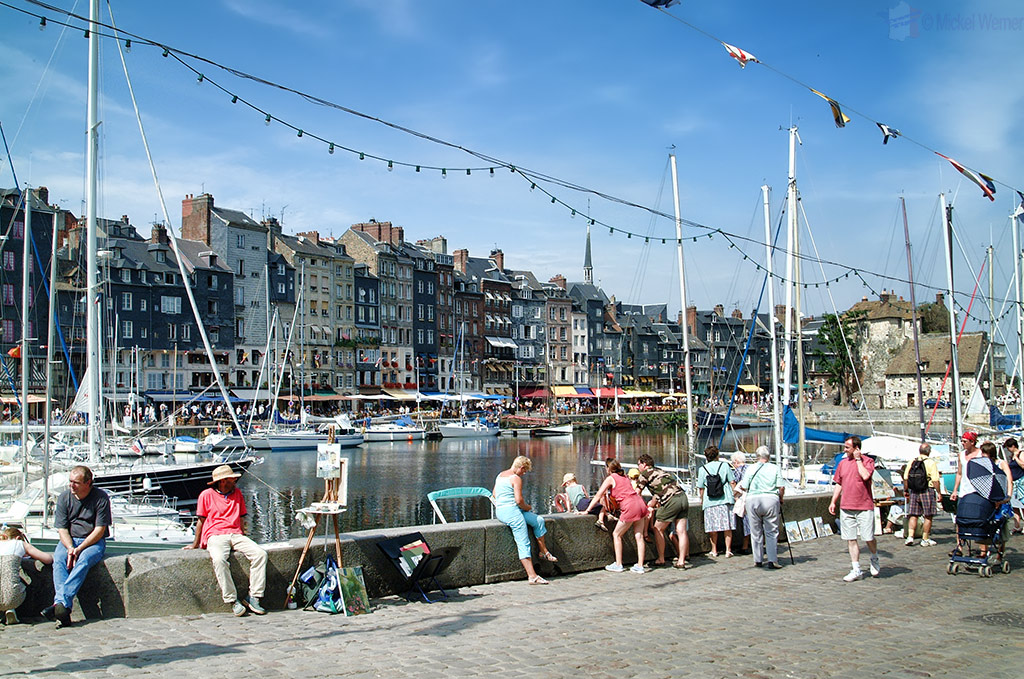 Pleasure boat harbour of Honfleur