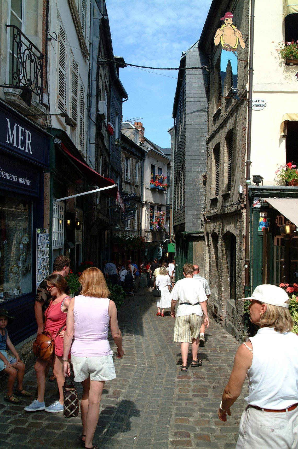 Cobblestone streets of Honfleur