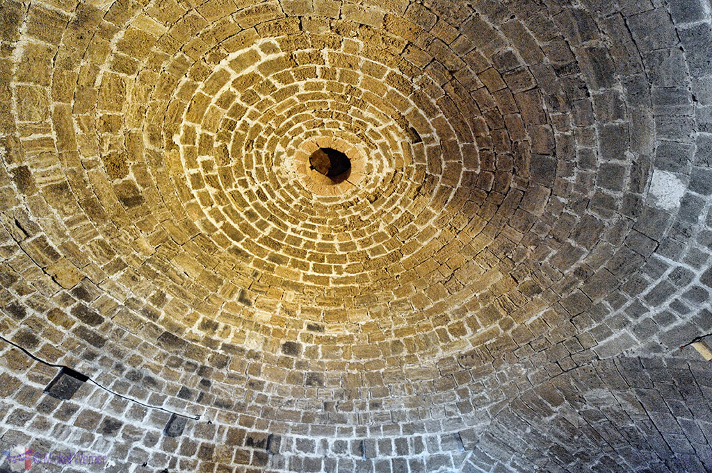 Ceiling of the gun turret/tower of the Chateau d'If at Marseilles