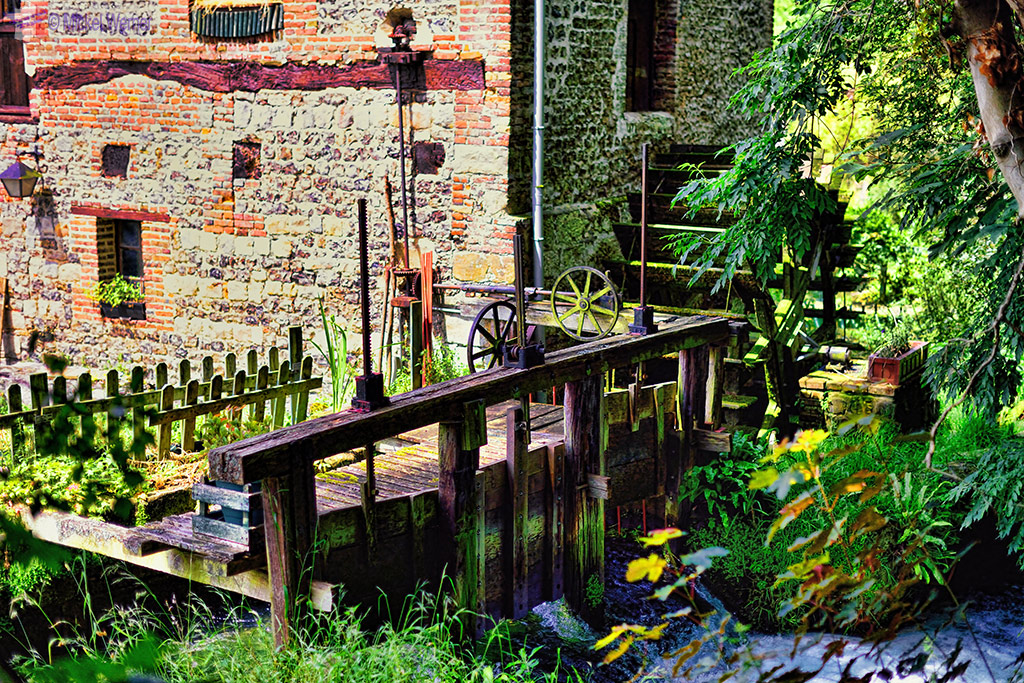 Watermill on the Veules river of Veules-Les-Roses