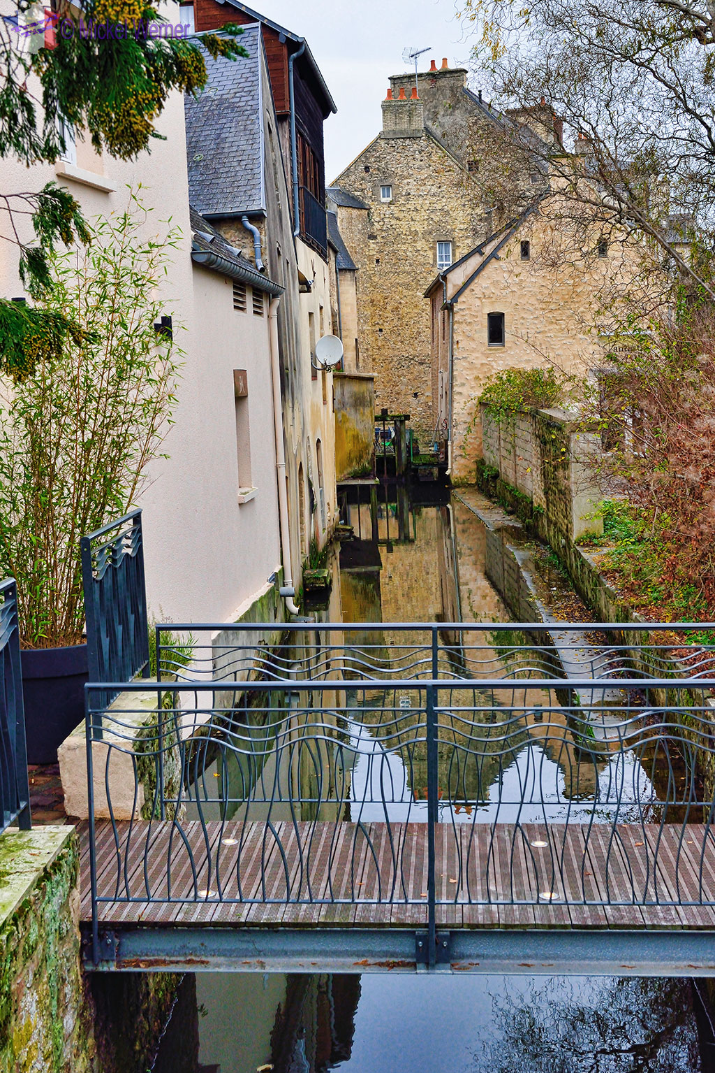 The Aure river in the city centre of Bayeux