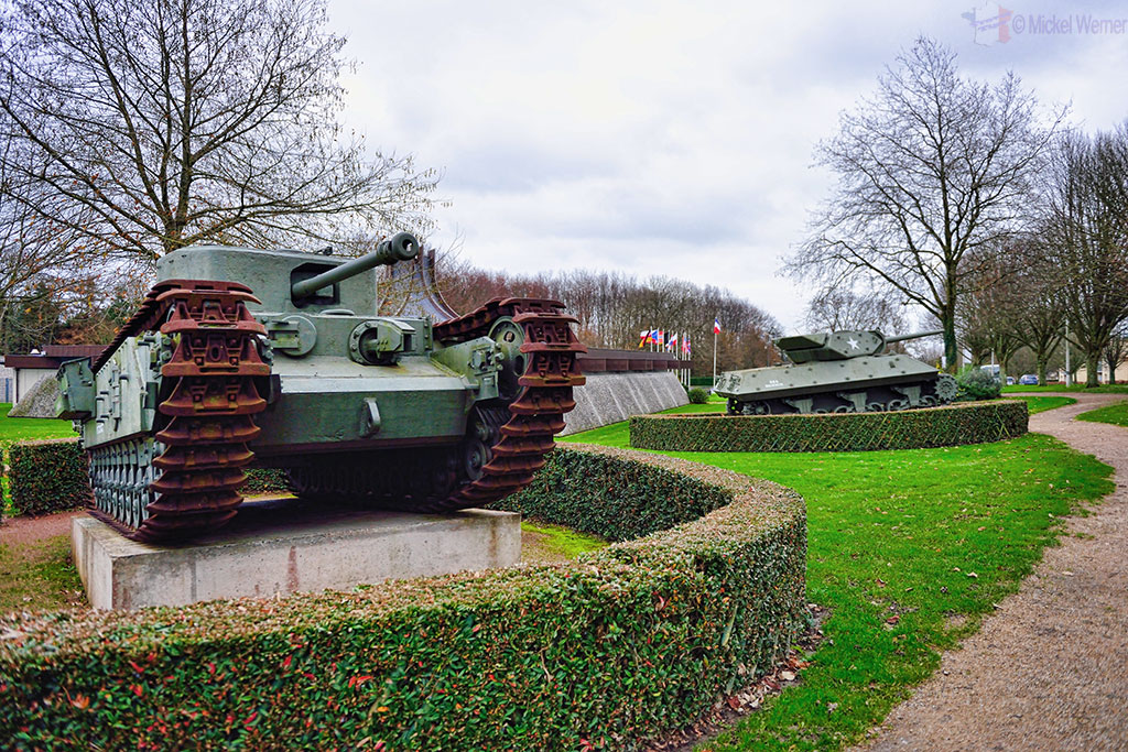 Tanks at the World War II Battle of Normandy museum in Bayeux