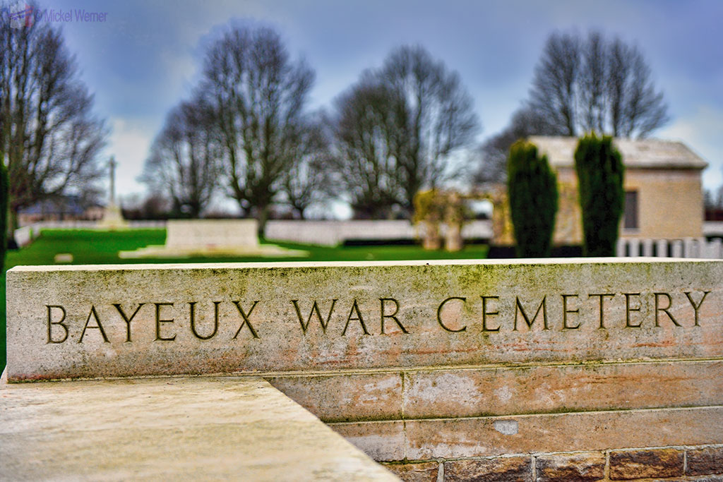 British War Cemetery of WWII in Bayeux