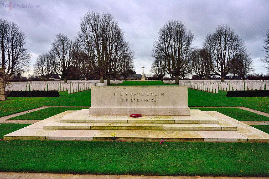 British War Cemetery of Bayeux engraving