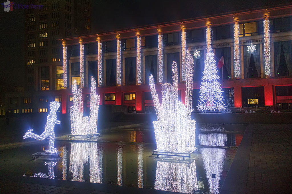 Le Havre Mairie Christmas lights