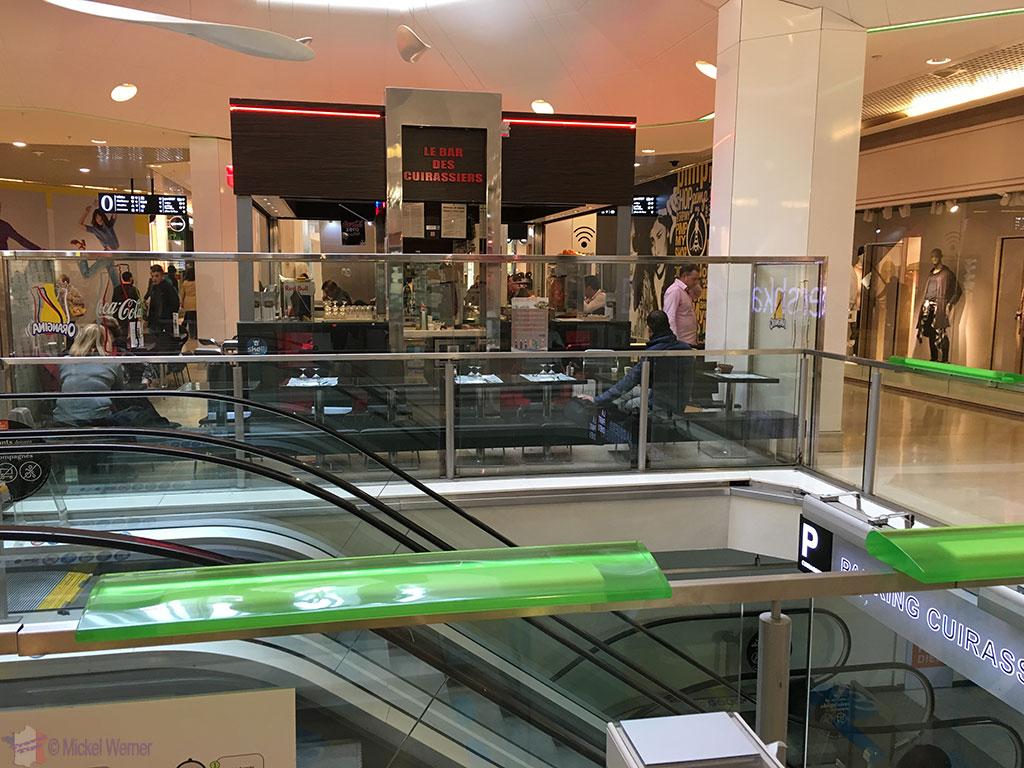 Inside the Part-Dieu shopping centre of Lyon