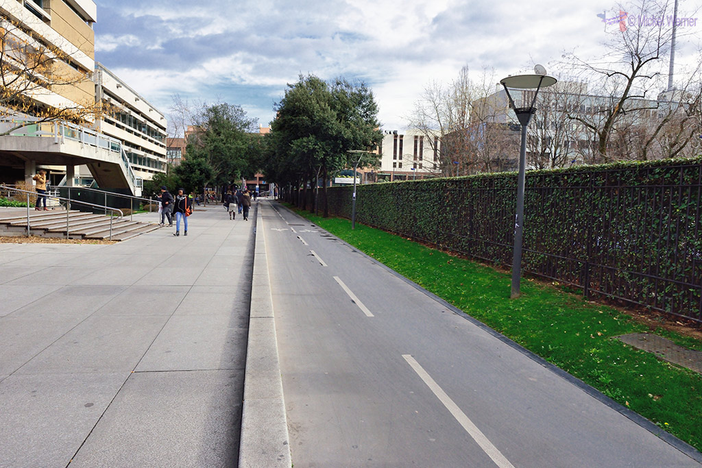 Bicycle paths of Lyon