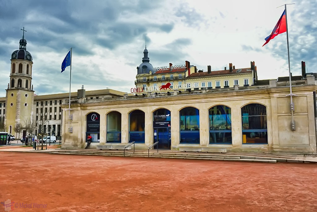 The Tourist Office on the La Place Bellecour square of Lyon