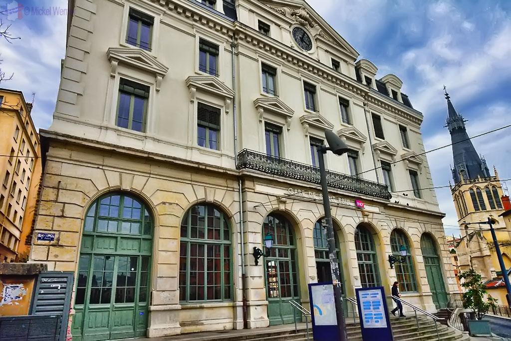 Saint-Paul railway station in old Lyon town