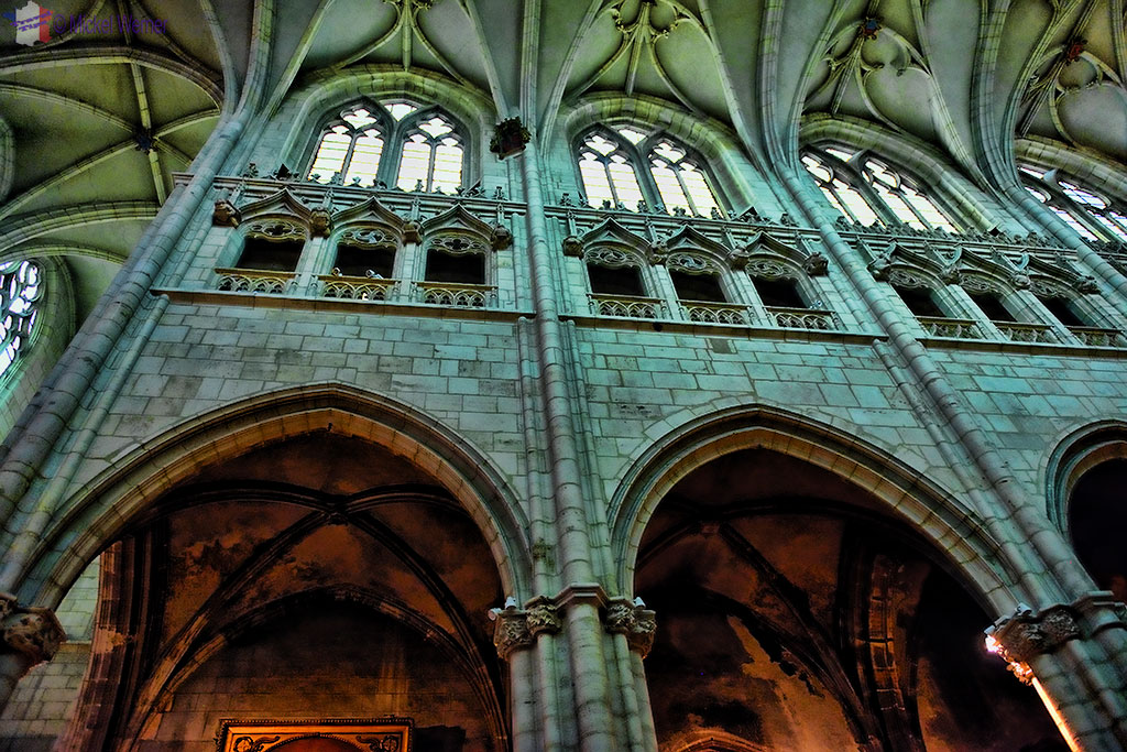 The arches of the Saint Nizier church in Lyon
