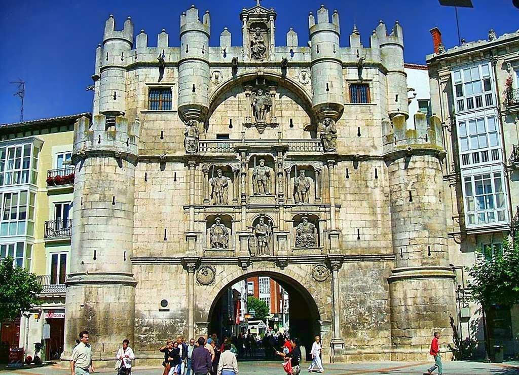 Arco de Santa Maria castle in Burgos, Spain