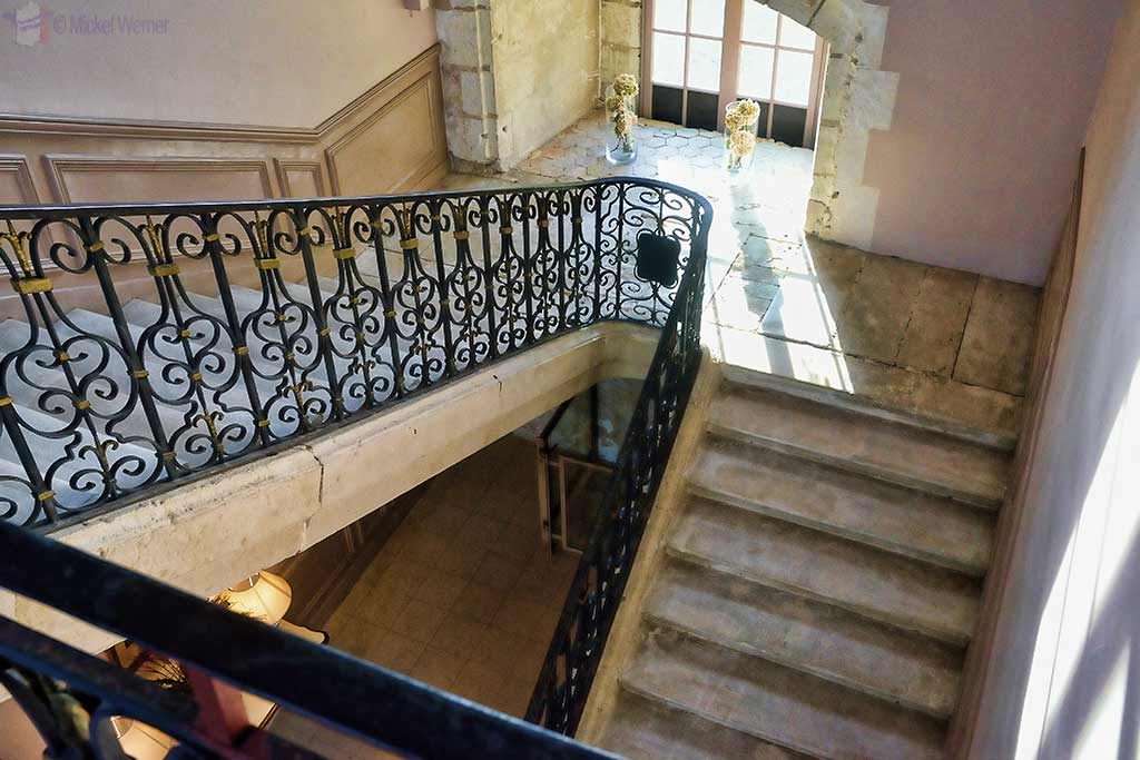 Stairs of Castle Reignac at Reignac-sur-Indre in the Loire Valley