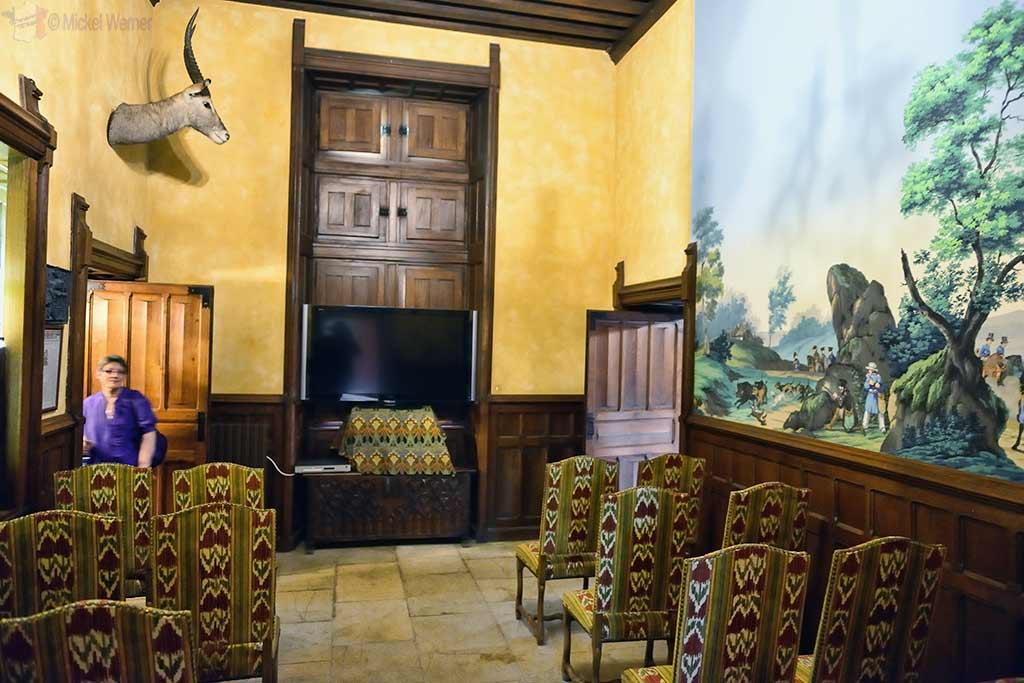 Presentation room inside the Vallon-en-Sully Castle -Chateau de Peufeilhoux