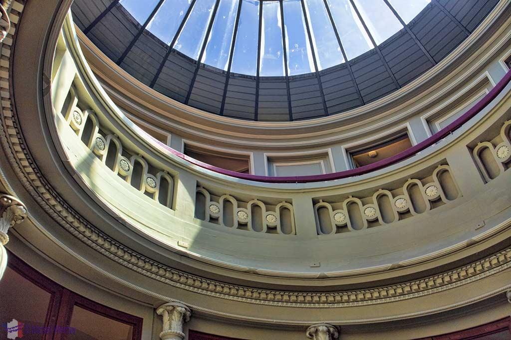 """Top of the light shaft inside the """"Maison de l'Armateur"""" in Le Havre"""