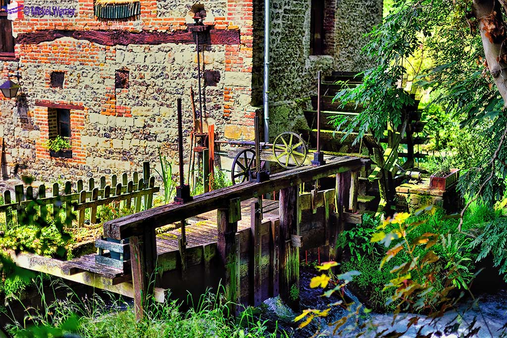 Watermill in Veules-les-Roses, Normandy
