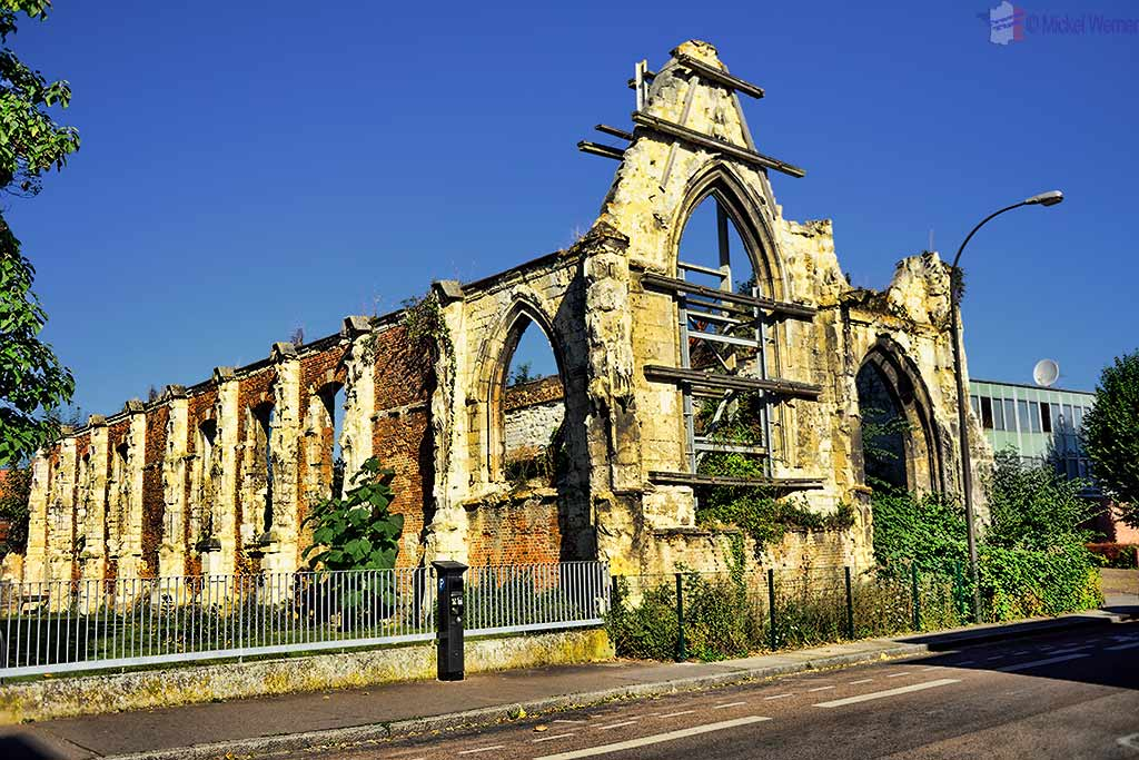 Ruins of a church in Amiens