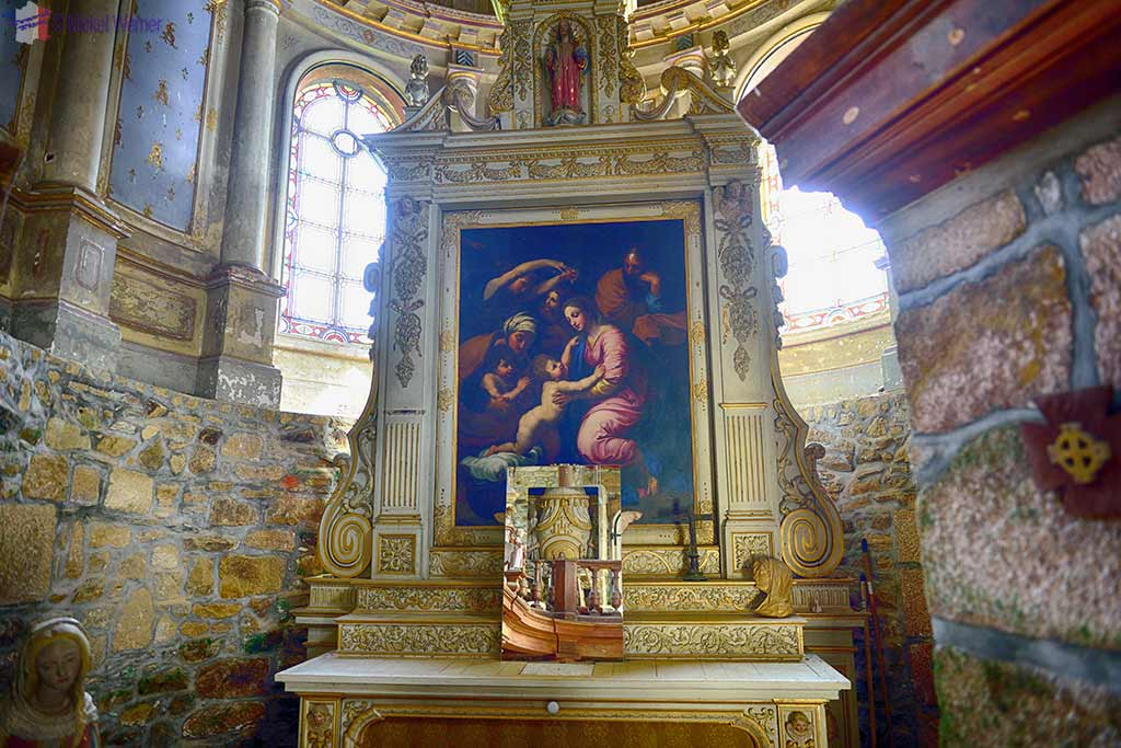 Inside the Chapel at the Chateau de Kerduel in Pleumeur-Bodou, Brittany