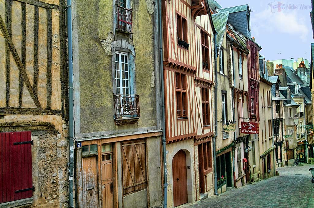 Medieval streets and houses of the old Le Mans