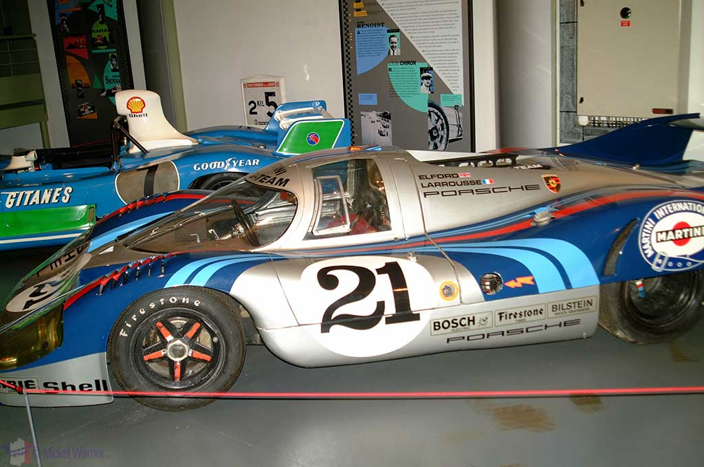 The car museum at the Bugatti race circuit of Le Mans