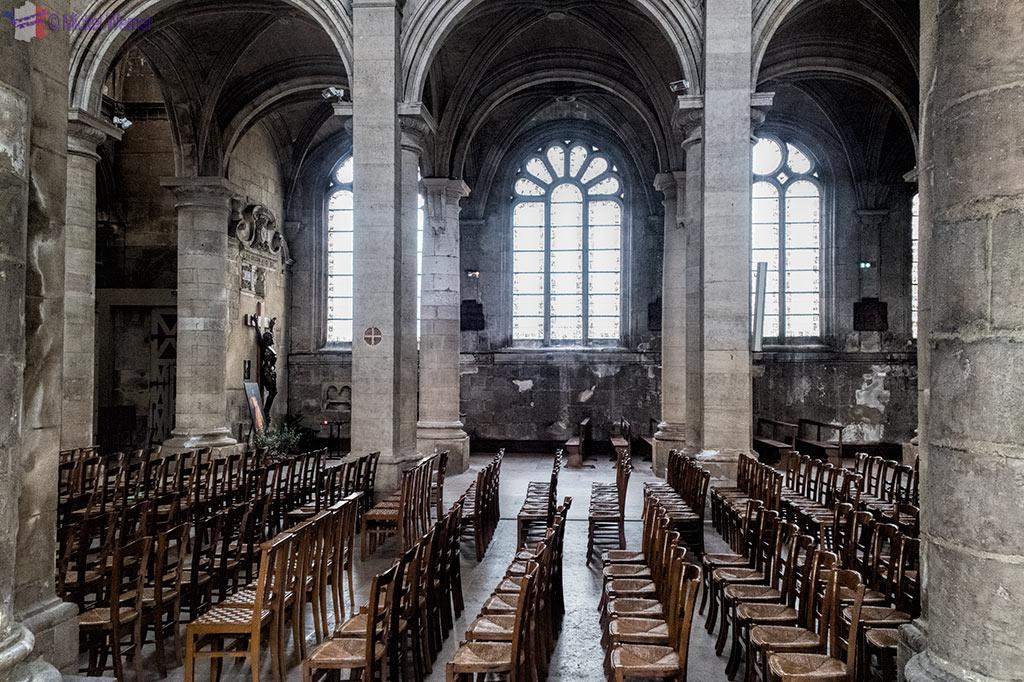 Inside Notre-Dame du Havre Cathedral of Le Havre, Normandy