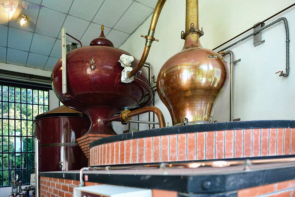 Calvados distillery of the Chateau du Breuil