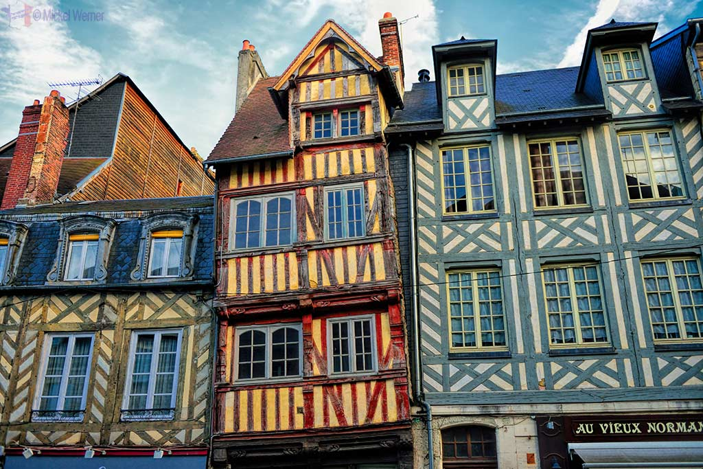 Very old houses in the city of Lisieux