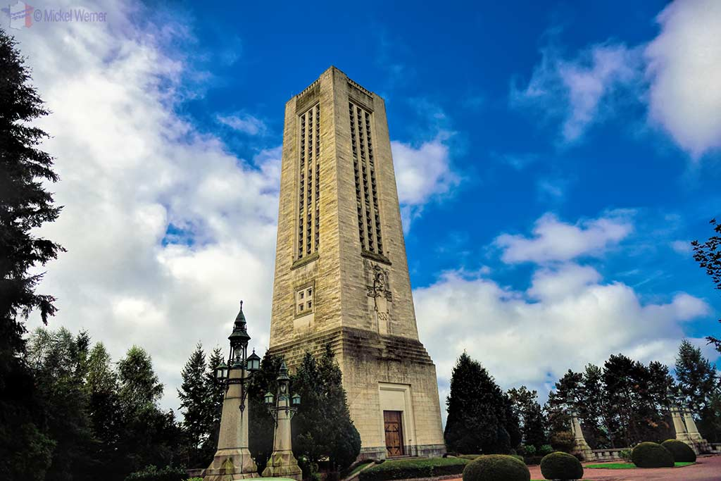 The bell tower of the Basilica of St. Therese in Lisieux, Normandy