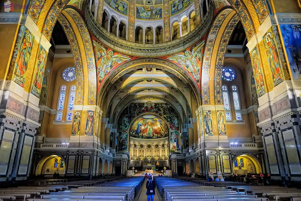 Inside the Basilica of St. Therese in Lisieux, Normandy