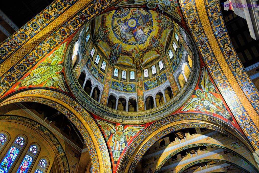 The dome of the Basilica of St. Therese in Lisieux, Normandy