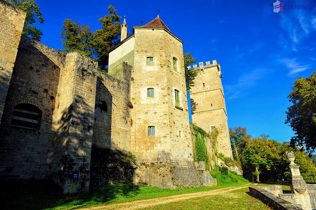 Montbard Castle inside the Buffon Park in Burgundy