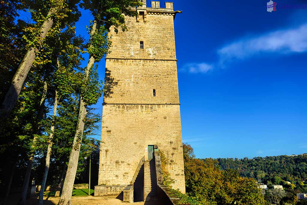 Aubespin tower of the Montbard Castle inside the Buffon Park in Burgundy