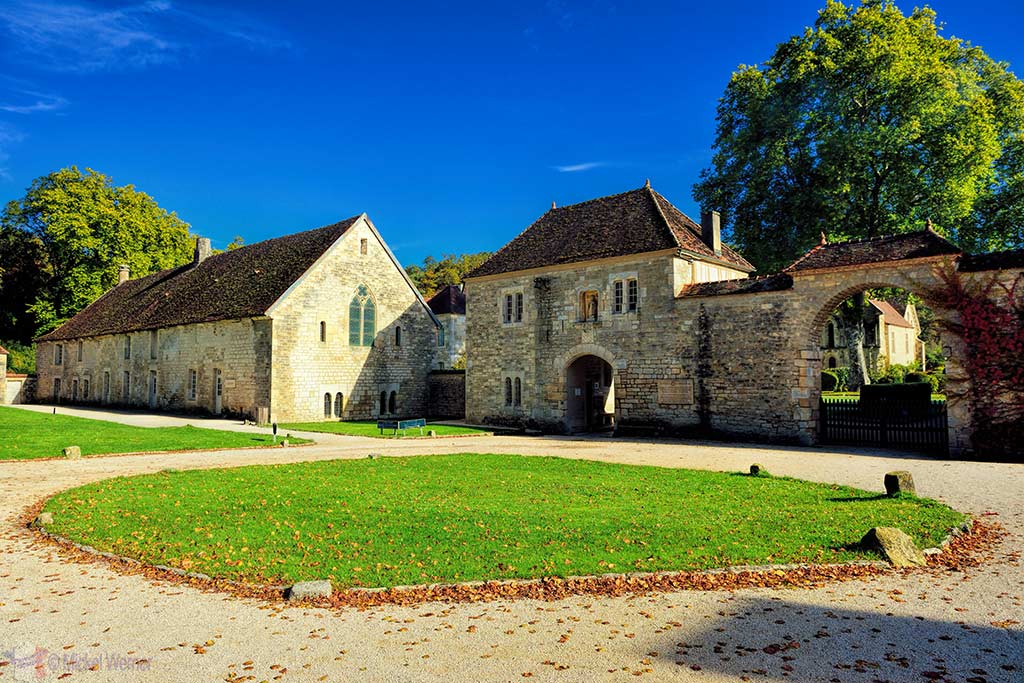Fontenay Abbey in Montbard, Burgundy entrance