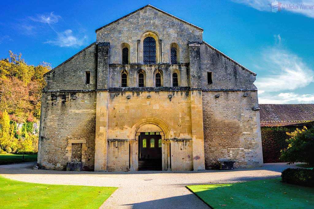 The church of the Fontenay Abbey in Montbard, Burgundy